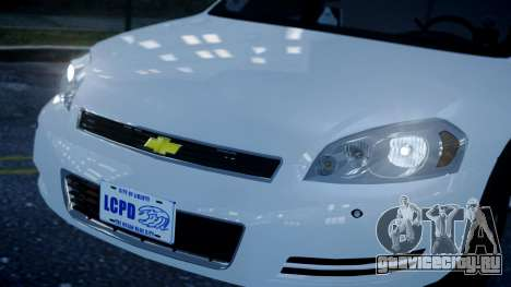 Chevy Impala Unmarked 2010 для GTA 4 вид справа