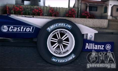 BMW Williams F1 для GTA San Andreas вид справа