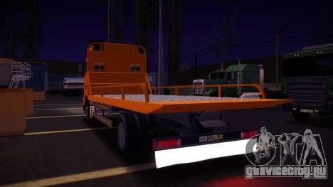 Volvo FH12 Эвакуатор для GTA San Andreas вид сзади
