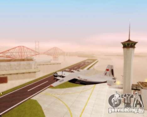Ан-12 Аэрофлот для GTA San Andreas вид изнутри