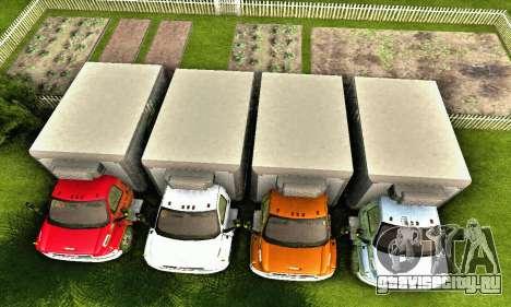 GMC Top Kick C4500 Dryvan House Movers 2008 для GTA San Andreas салон