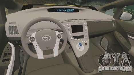 Toyota Prius 2011 Warsaw Taxi v3 для GTA 4 вид сбоку
