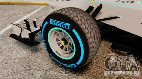 Mercedes AMG F1 W04 v2 для GTA 4 вид сзади