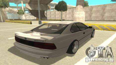 BMW 850CSi 1996 Stock version для GTA San Andreas вид справа