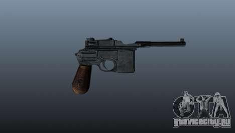 Самозарядный пистолет Mauser C96 для GTA 4 третий скриншот
