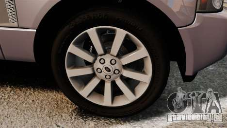 Range Rover Supercharged для GTA 4 вид сзади