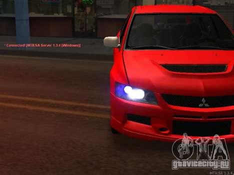 Mitsubishi Lancer Evo VIII для GTA San Andreas вид сзади