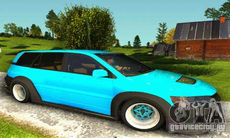 Mitsubishi Evo IX Wagon S-Tuning для GTA San Andreas вид слева