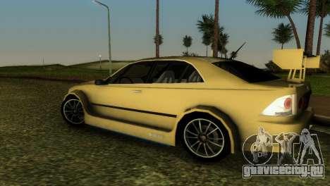 Lexus IS200 для GTA Vice City вид сбоку