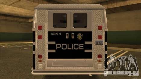 Enforcer HD from GTA 3 для GTA San Andreas вид справа