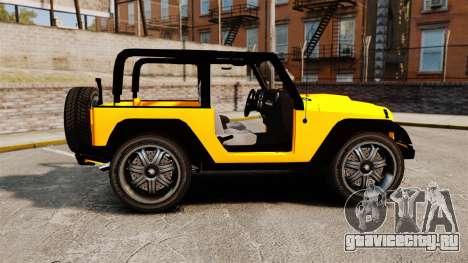 Jeep Wrangler Rubicon 2012 для GTA 4 вид слева