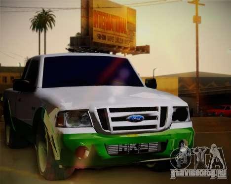 Ford Ranger 2005 для GTA San Andreas вид сзади
