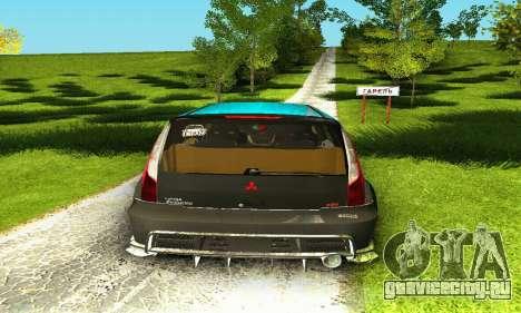 Mitsubishi Evo IX Wagon S-Tuning для GTA San Andreas вид сверху