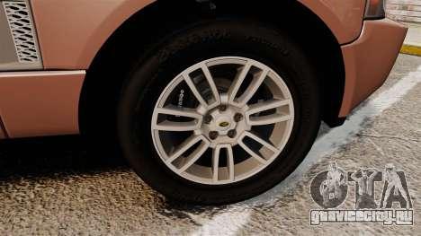 Range Rover TDV8 Vogue для GTA 4 вид сзади
