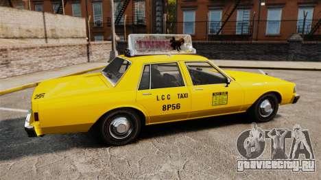 Chevrolet Caprice 1987 L.C.C. Taxi для GTA 4 вид слева
