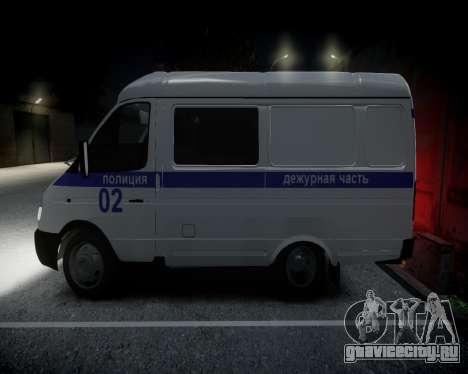 ГАЗель 2705 Полиция для GTA 4 вид сзади слева