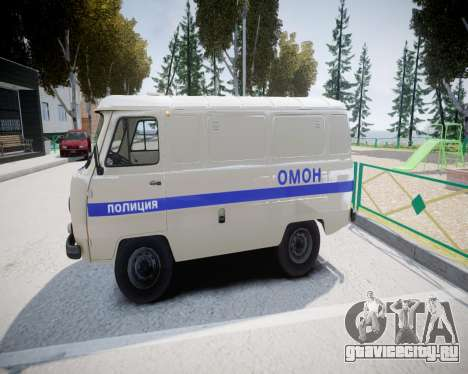 УАЗ 3741 ОМОН для GTA 4 вид сзади слева