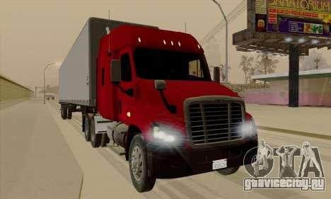 Freghtliner Cascadia для GTA San Andreas вид слева