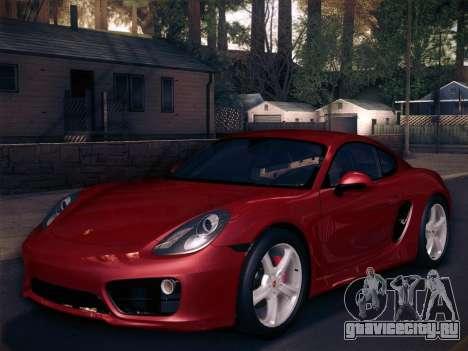 Porsche Cayman S 2014 для GTA San Andreas двигатель