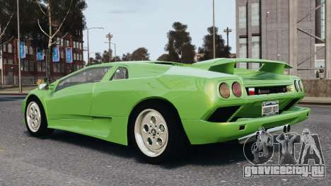 Lamborghini Diablo VT 1994 для GTA 4 вид сверху