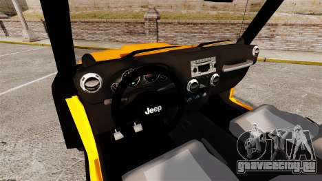 Jeep Wrangler Rubicon 2012 для GTA 4 вид сзади