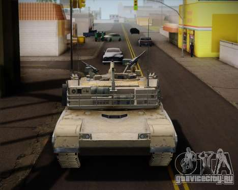 Abrams Tank Indonesia Edition для GTA San Andreas вид сзади слева