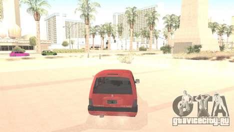 Peugeot Partner для GTA San Andreas вид сзади слева