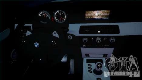 BMW M5 E60 для GTA 4 вид изнутри