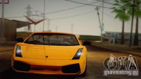 Lamborghini Gallardo Superleggera для GTA San Andreas вид сзади слева