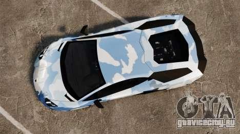 Lamborghini Aventador LP700-4 LE-C 2014 для GTA 4 вид справа