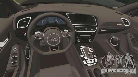 Audi RS4 Avant VVS-CV4 2013 для GTA 4 вид изнутри