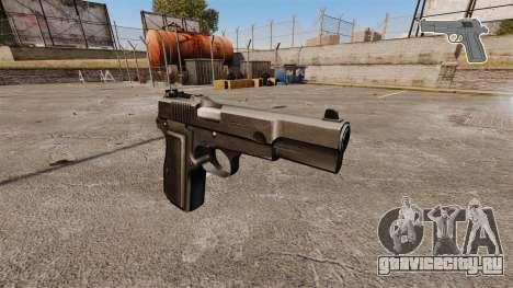 Самозарядный пистолет Browning Hi-Power для GTA 4