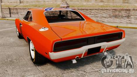 Dodge Charger 1969 General Lee v2.0 HD Vinyl для GTA 4 вид сзади слева
