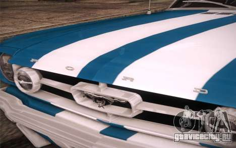 Ford Mustang GT 289 Hardtop Coupe 1965 для GTA San Andreas