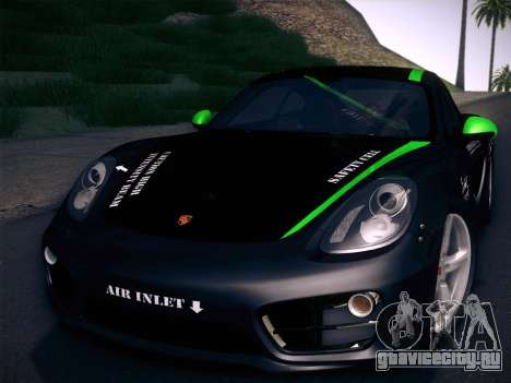 Porsche Cayman S 2014 для GTA San Andreas вид сверху