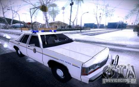 Police North Yankton для GTA San Andreas вид слева