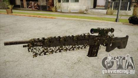 Sniper M-14 With Camouflage Grid для GTA San Andreas