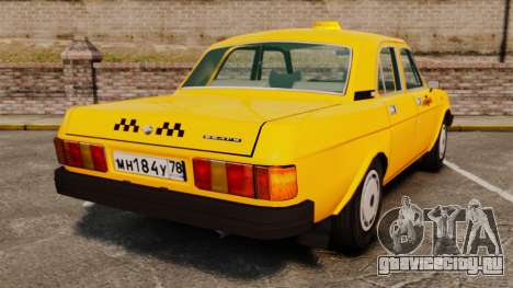 ГАЗ-31029 такси для GTA 4 вид сзади слева