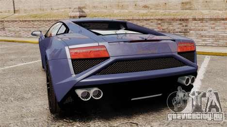 Lamborghini Gallardo 2013 для GTA 4 вид сзади слева