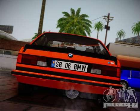 BMW E24 M635 1984 для GTA San Andreas вид сверху