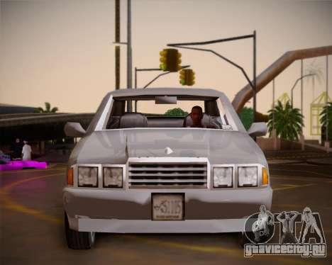 GTA III Kuruma для GTA San Andreas вид изнутри