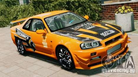 Nissan Skyline R34 GT-R NFS Underground для GTA 4