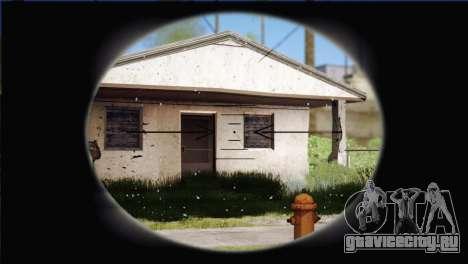 Sniper M-14 With Camouflage Grid для GTA San Andreas пятый скриншот