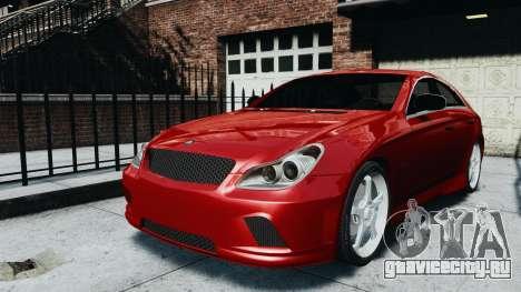 Mercedes-Benz CLS AMG для GTA 4 вид сзади слева