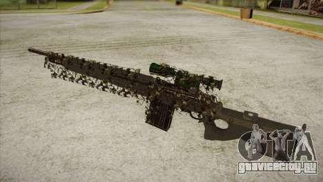 Sniper M-14 With Camouflage Grid для GTA San Andreas второй скриншот