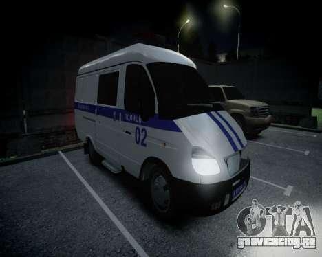 ГАЗель 2705 Полиция для GTA 4 вид слева