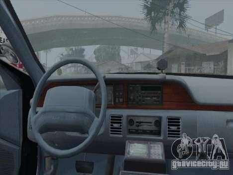 Chevrolet Caprice LVPD 1991 для GTA San Andreas вид сзади слева