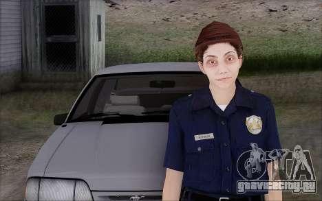 GTA 5 Police Woman для GTA San Andreas второй скриншот