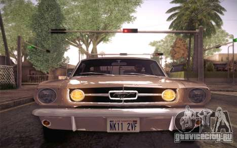 Ford Mustang GT 289 Hardtop Coupe 1965 для GTA San Andreas вид сбоку