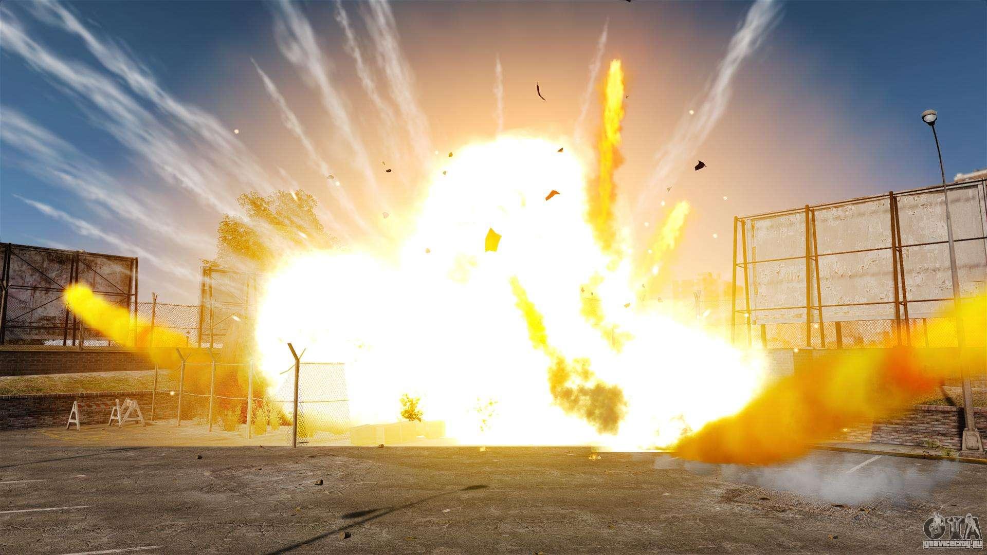 Новые эффекты взрыва и огня для GTA 4